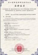 废钢环保许可证书